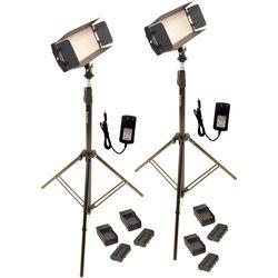 Bescor FP-312K 2-Point LED Light Kit with Light Stands