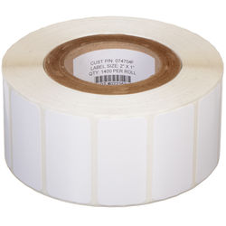 """Primera White TuffCoat High-Gloss 2 x 1""""  Printable Labels for the LX400"""
