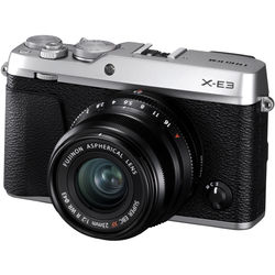 Fujifilm X-E3 Mirrorless Digital Camera with 23mm f/2 Lens (Silver)