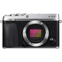 Fujifilm X-E3 Mirrorless Digital Camera (Body Only, Silver)