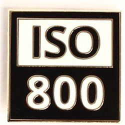 "TogTees ISO 800 Enamel Pin (1 x 1"", Gold Hour Finish)"