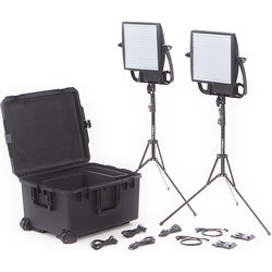 Litepanels Astra 3X Traveler Bi-Color Duo 2-Light Kit with V-Mount Battery Brackets