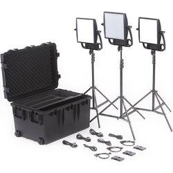 Litepanels Astra Bi-Color LED Traveler Trio Kit (Gold Mount)