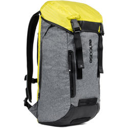Incase Designs Corp Halo Collection Courier Backpack (Heather Gray/Black/Yellow)
