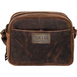 GILLIS LONDON Trafalgar Compact Camera Bag (Brown Vintage Leather)