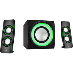 Cyber Acoustics CA-3712BT 2.1-Channel Bluetooth Speaker System with LED Lighting