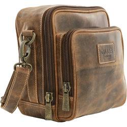 GILLIS LONDON Trafalgar Hands-Free Camera Bag (Brown Vintage Leather)