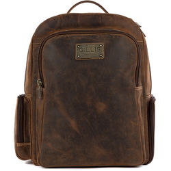 GILLIS LONDON Trafalgar Camera Rucksack (Brown Vintage Leather)