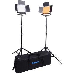 Bescor FP-900K Bi-Color Wirelessly Controlled LED Studio 2-Light Kit