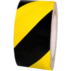 "Atlas Adhesive Tape 6 mil Caution Tape (2"" x 18 yd, Black and Yellow)"