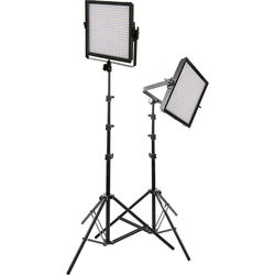 Genaray SpectroLED Essential 360 Bi-Color LED 2-Light Kit with Stands and Accessories