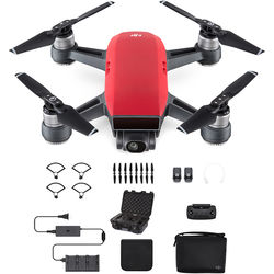 DJI Spark Fly More Combo with Waterproof Case Kit (Lava Red)