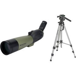 Celestron Ultima 80 20-60x80mm Spotting Scope with Tripod Kit (Angled Viewing)