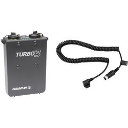 Quantum Instruments Turbo 3 Rechargeable Battery and Cable for Canon Kit