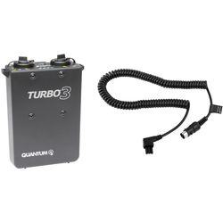 Quantum Instruments Turbo 3 Rechargeable Battery with IM-CKE Flash Cable Kit