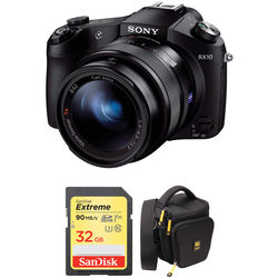 Sony Cyber-shot DSC-RX10 Digital Camera with Free Accessory Kit (Black)