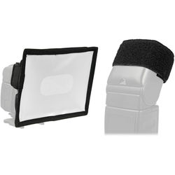 Vello Fabric Softbox with Cinch Strap Kit for Portable Flashes (Medium)