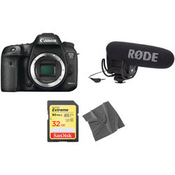 Canon EOS 7D Mark II DSLR Camera with Microphone Kit