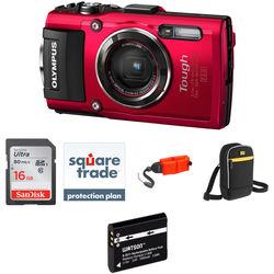 Olympus Stylus TOUGH TG-4 Digital Camera Deluxe Kit (Red)