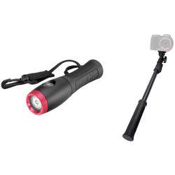 SeaLife Sea Dragon Mini 650 Flood LED Dive Light and AquaPod Mini Monopod Kit
