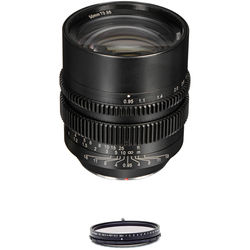SLR Magic 50mm T0.95 Lens with MFT Mount and 62mm Variable ND Kit
