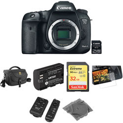 Canon EOS 7D Mark II DSLR Camera Body with Basic Photo Kit