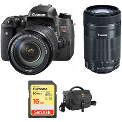 Canon EOS Rebel T6s DSLR Camera with 18-135mm and 55-250mm Lenses Kit