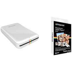 Polaroid ZIP Mobile Printer Kit with 20 Sheets of Photo Paper (White)