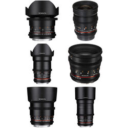 Rokinon Cine DS 6 Lens Kit with Canon EF Mount