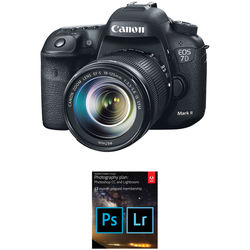 Canon EOS 7D Mark II DSLR Camera with 18-135mm f/3.5-5.6 STM Lens and Adobe Creative Cloud Photography Plan Kit