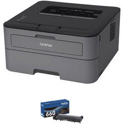Brother HL-L2300D Monochrome Laser Printer with Additional High Yield Toner Cartridge Kit