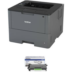 Brother HL-L6200DW Monochrome Laser Printer with High Yield Toner Cartridge Kit