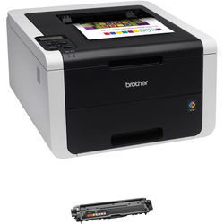 Brother HL-3170CDW Wireless Color Laser Printer with Extra Black Toner Cartridge Kit