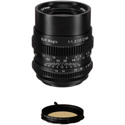 SLR Magic Cine 35mm f/1.2 FE Lens with Variable Neutral Density Filter Kit for Sony E-Mount