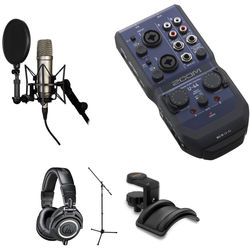 Rode NT1-A Mic with ATH-M50x Headphones and Interface Vocal Recording Kit