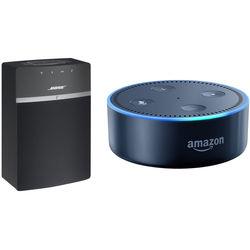 Bose SoundTouch 10 Wireless Music System and Amazon Echo Dot B&H Kit (Black)