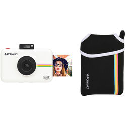 Polaroid Snap Touch Instant Digital Camera with Pouch Kit (White)