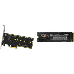 Angelbird Wings PX1 PCIe x4 M.2 Adapter and 250GB NVMe M.2 SSD Kit