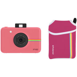 Polaroid Snap Instant Digital Camera with Pouch Kit (Pink)