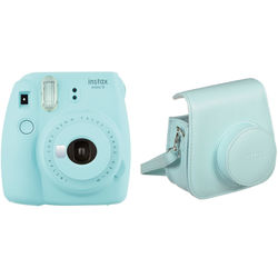 Fujifilm instax mini 9 Instant Film Camera with Case Kit (Ice Blue)