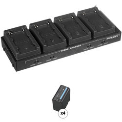 Dolgin Engineering TC40-EX Four-Position Charger Kit with 4 x Sony BPU-60 Batteries