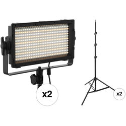 Genaray SpectroLED Essential 365 Bi-Color 2-Light Kit with Stands