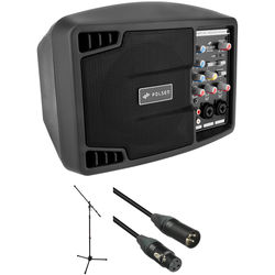 "Polsen PA-5150, 5"" 150W Portable PA System with Stand and Cable Kit"