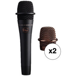 Blue enCORE 200 Active Dynamic Handheld Vocal Microphone 2-Pack Kit