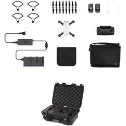 DJI Spark Quadcopter Fly More Combo Kit with Hard Case (Alpine White/Black)