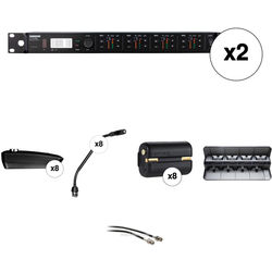 """Shure ULXD4Q 8-Channel Wireless Receiver with 10"""" Gooseneck Microphone Kit (H50: 534 to 598 MHz)"""