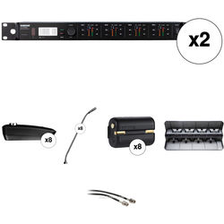 """Shure ULXD4Q 8-Channel Wireless Receiver with 15"""" Gooseneck Microphone Kit (G50: 470 to 534 MHz)"""
