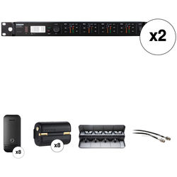 Shure ULXDQ 8-Channel Wireless Receiver and Cardioid Boundary Microphone Kit (H50: 534 to 598 MHz)