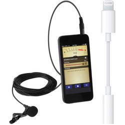 Polsen MO-PL1 Lavalier Microphone for Mobile Devices with Lightning to 3.5mm Adapter Kit