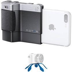 miggo Pictar Plus Camera Grip for iPhone 6 Plus/6s Plus/7 Plus/8 Plus/X with Mini Tripod Kit